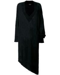 Vestido recto de mohair de punto negro de Ann Demeulemeester
