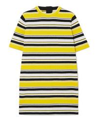 Vestido recto de rayas horizontales amarillo de Marc Jacobs