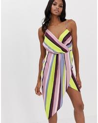 Vestido recto de rayas verticales en multicolor de ASOS DESIGN