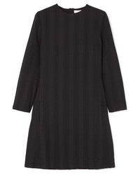 Vestido recto de rayas verticales negro de Chloé