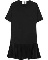 Vestido recto de seda negro de Topshop