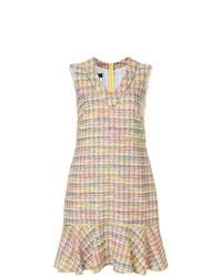 Vestido recto de tartán en multicolor de Talbot Runhof