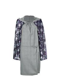 Vestido recto de tartán gris de Comme Des Garçons Vintage