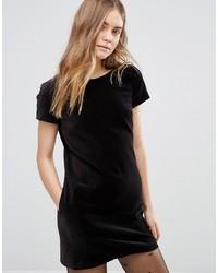 Vestido recto de terciopelo negro de Jack Wills