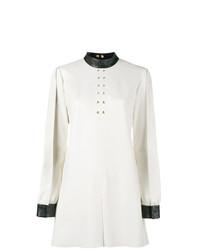 Vestido recto en blanco y negro de Skiim