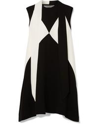 Vestido recto en negro y blanco de Givenchy