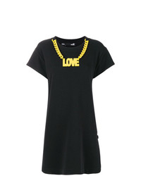 Vestido recto estampado negro de Love Moschino