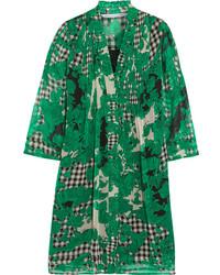 Vestido Recto Estampado Verde de Diane von Furstenberg