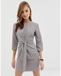 Vestido recto gris de ASOS DESIGN