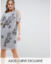 Vestido recto gris de Asos