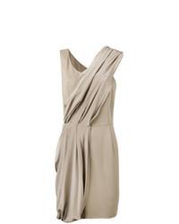 Vestido recto gris de D-Exterior