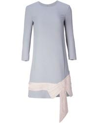Vestido recto gris de Thom Browne