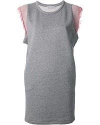 Vestido recto gris