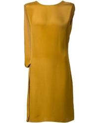 Vestido recto mostaza