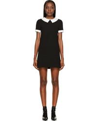 Vestido recto negro y blanco original 10084232