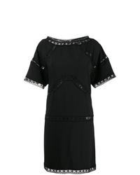 Vestido recto negro de Dsquared2