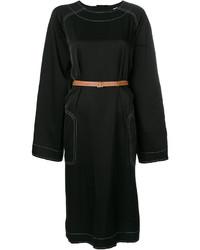Vestido recto negro de Loewe
