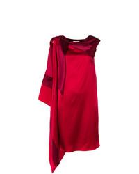Vestido recto rojo de Gianluca Capannolo