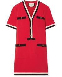 Vestido recto rojo de Gucci