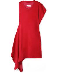 Vestido recto rojo de MM6 MAISON MARGIELA