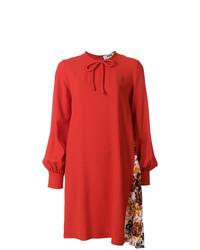 Vestido recto rojo de MSGM