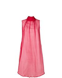 Vestido recto rojo de Societe Anonyme
