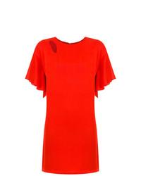 Vestido recto rojo de Tufi Duek