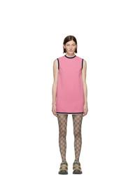 Vestido recto rosado de Gucci
