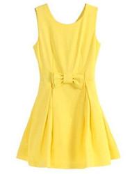 Vestido skater amarillo