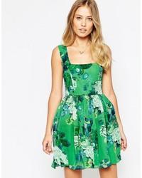 95b8c96e0 Comprar un vestido skater con print de flores verde: elegir vestidos ...