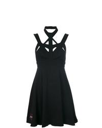 Vestido skater con recorte negro de Philipp Plein