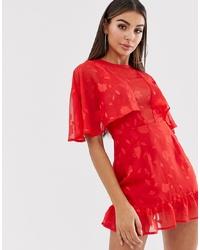 Vestido skater de encaje rojo de Lasula