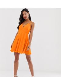 Vestido skater naranja de ASOS DESIGN