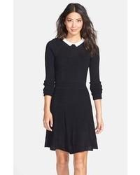 Vestido skater negro y blanco original 4565305