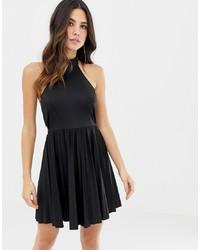 Vestido skater negro de ASOS DESIGN