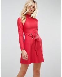 Vestido skater rojo de Asos