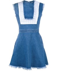 Vestido skater vaquero azul de House of Holland