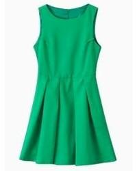 Vestido skater verde