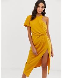 Vestido tubo amarillo de ASOS DESIGN