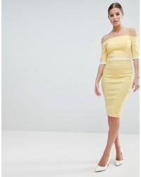 Vestido tubo amarillo de Vesper