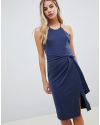 Vestido tubo azul marino de StyleStalker