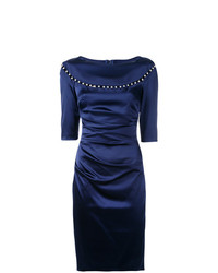 Vestido Tubo Azul Marino de Talbot Runhof