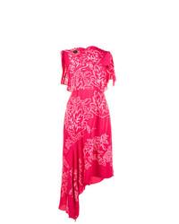 Vestido tubo bordado rosa de Peter Pilotto