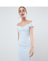 Vestido tubo celeste de City Goddess Petite