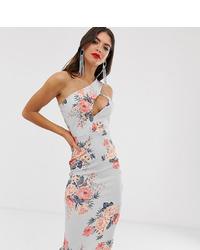 Vestido tubo con print de flores celeste de Missguided Tall