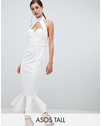 Vestido tubo con recorte blanco de ASOS DESIGN