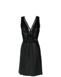Vestido Tubo de Cuero Negro de Nk