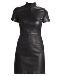 Vestido Tubo de Cuero Negro de Set