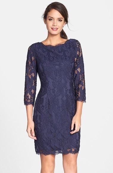 Combinar vestido azul marino encaje