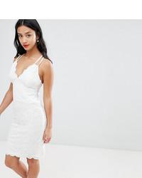 Vestido Tubo de Encaje Blanco de City Goddess Petite